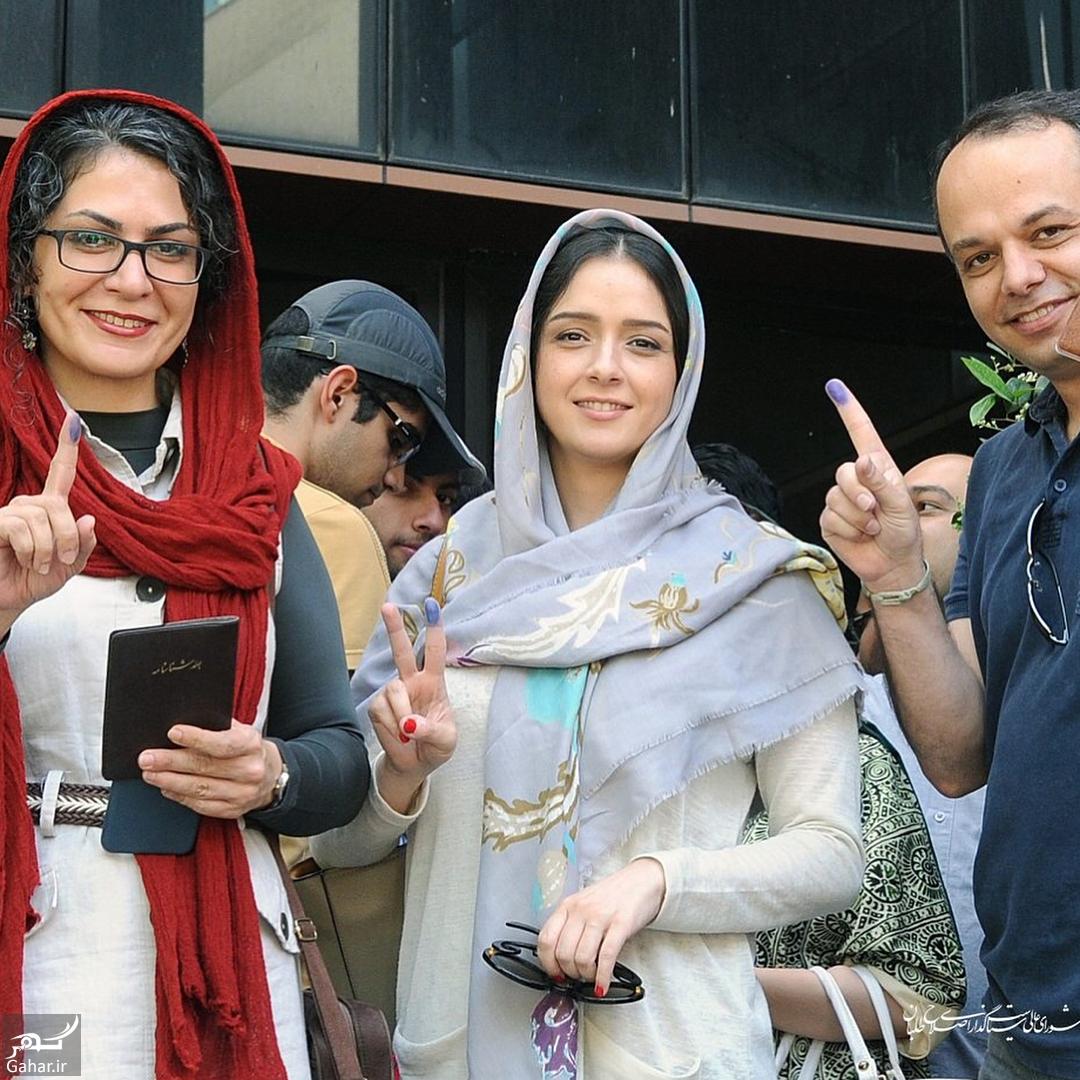 964903 Gahar ir عکس/ ترانه علیدوستی در حال رای دادن در دانشگاه امیر کبیر
