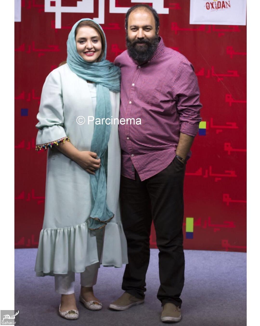 169845 Gahar ir عکس های متفاوت نرگس محمدی و همسرش در اکران مردمی فیلم اکسیدان