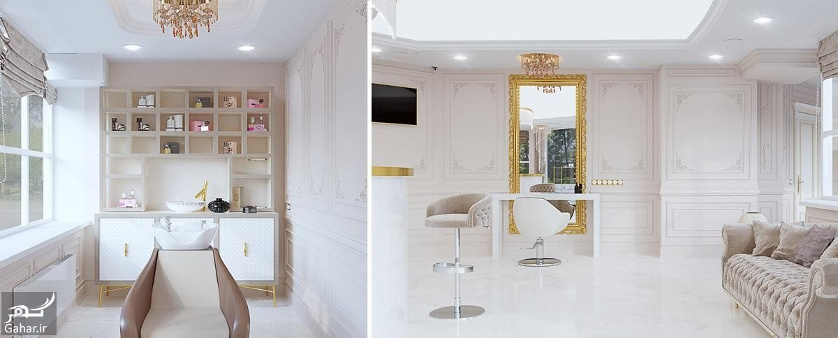 658432 Gahar ir دکوراسیون آرایشگاه زنانه فوق العاده زیبا و مدرن + جزییات