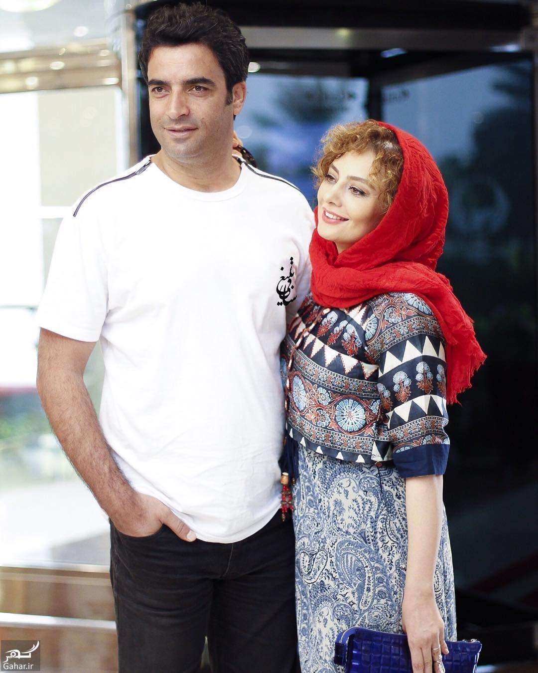 216393 Gahar ir عکس/ ژست های عاشقانه یکتا ناصر و همسرش در مراسم رونمایی از پوستر آینه بغل