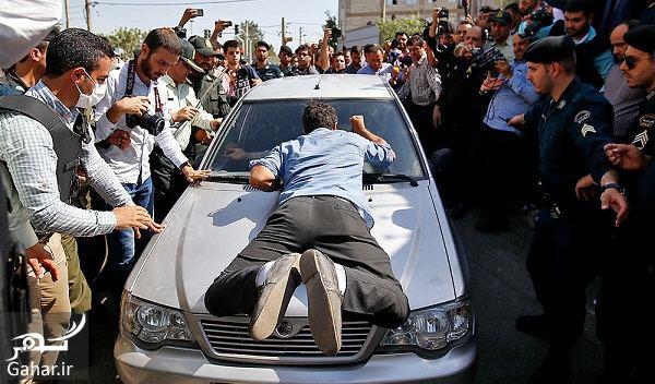 266797 Gahar ir شکستن شیشه ماشین مجرمان توسط پدر بنیتا در بازسازی صحنه