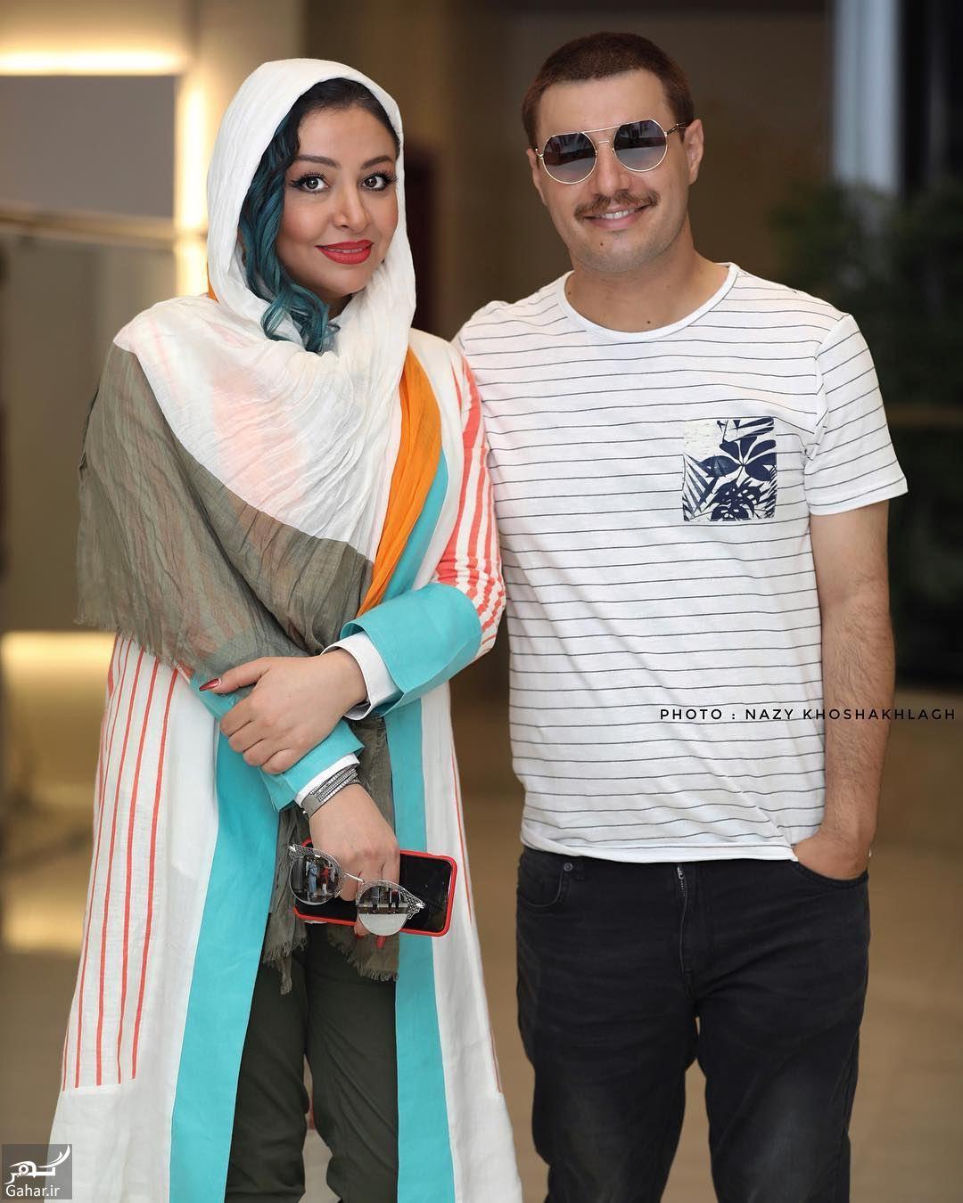 538169 Gahar ir عکس/ تیپ متفاوت جواد عزتی و همسرش در رونمایی از پوستر فیلم آینه بغل