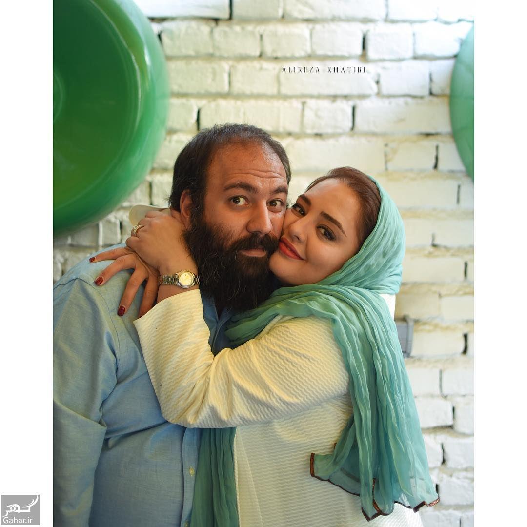 553257 Gahar ir عکس جدید و متفاوت نرگس محمدی و همسرش در آغوش هم