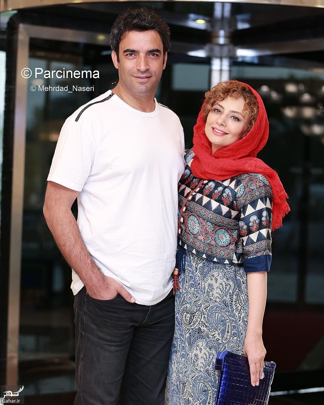 571697 Gahar ir عکس/ ژست های عاشقانه یکتا ناصر و همسرش در مراسم رونمایی از پوستر آینه بغل