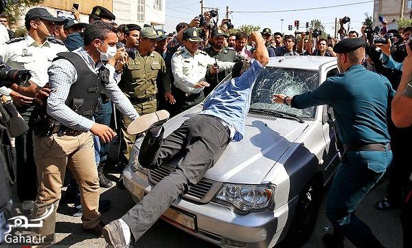 587551 Gahar ir شکستن شیشه ماشین مجرمان توسط پدر بنیتا در بازسازی صحنه