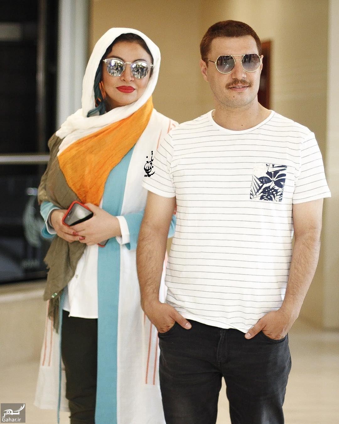 907815 Gahar ir عکس/ تیپ متفاوت جواد عزتی و همسرش در رونمایی از پوستر فیلم آینه بغل