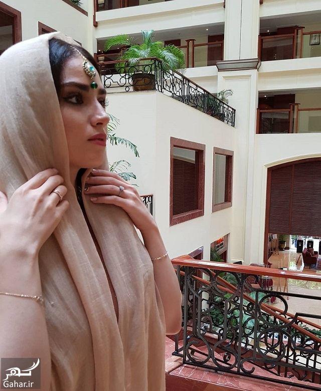 074560 Gahar ir تصاویر/ ظاهر جدید و زیبای هانیه غلامی با لباس هندی در بمبئی