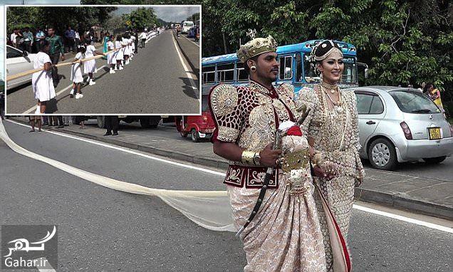 108911 Gahar ir تصاویر / عروس سریلانکایی با 250 ساقدوش برای حمل دنباله لباسش