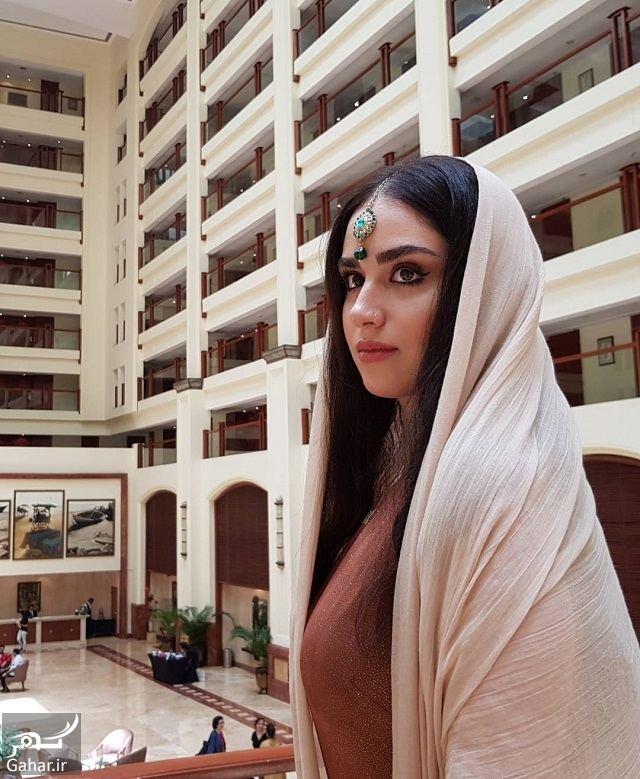 130494 Gahar ir تصاویر/ ظاهر جدید و زیبای هانیه غلامی با لباس هندی در بمبئی