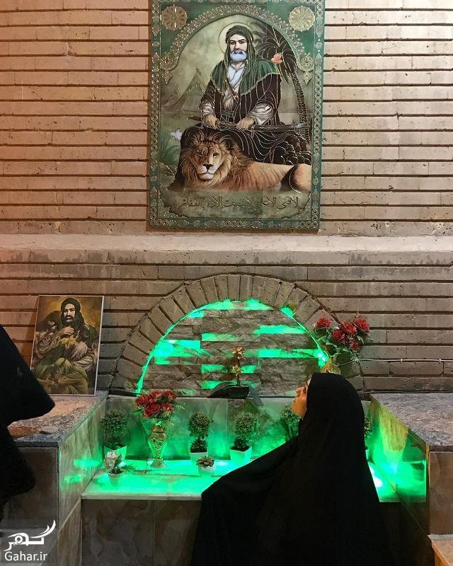 173471 Gahar ir عکس بازیگران زن سینما در مسجد کوفه