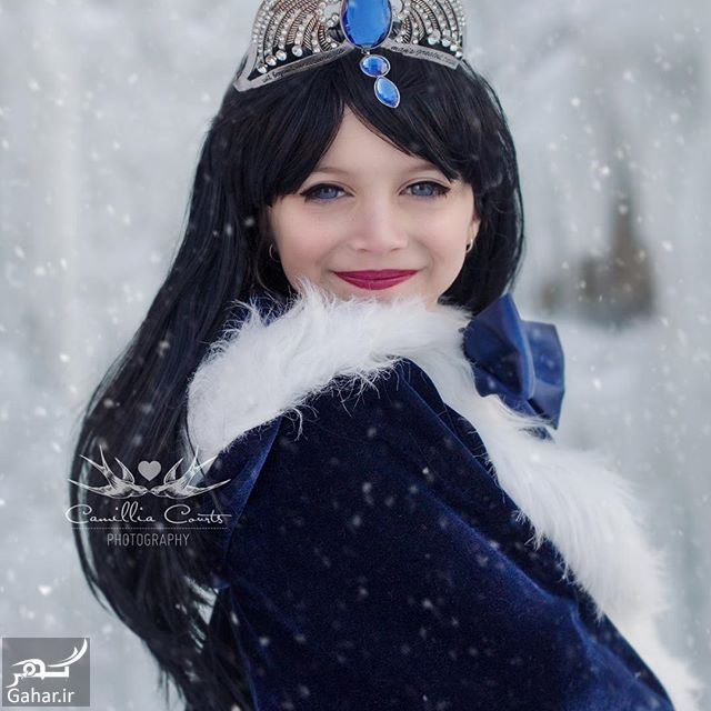 192285 Gahar ir عكاسی مادر از فرزندش با ژست و آرايش شخصيت های كارتونی دیزنی / تصاوير