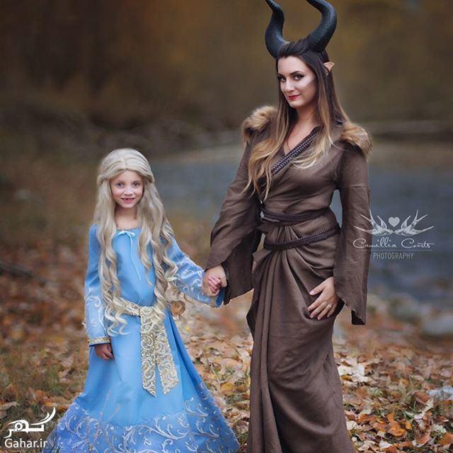 406393 Gahar ir عكاسی مادر از فرزندش با ژست و آرايش شخصيت های كارتونی دیزنی / تصاوير