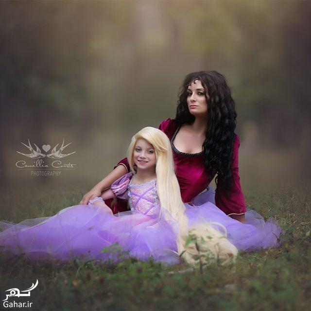 502960 Gahar ir عكاسی مادر از فرزندش با ژست و آرايش شخصيت های كارتونی دیزنی / تصاوير