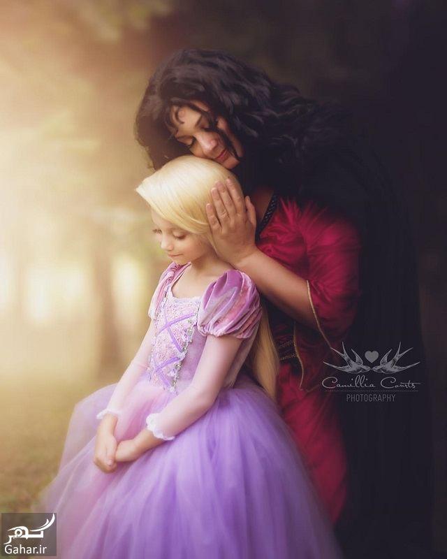 533037 Gahar ir عكاسی مادر از فرزندش با ژست و آرايش شخصيت های كارتونی دیزنی / تصاوير