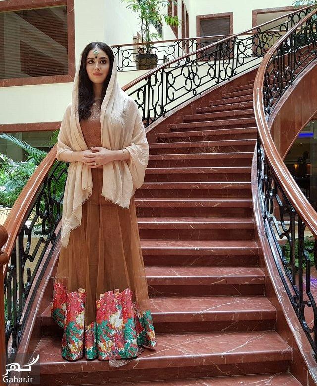618656 Gahar ir تصاویر/ ظاهر جدید و زیبای هانیه غلامی با لباس هندی در بمبئی
