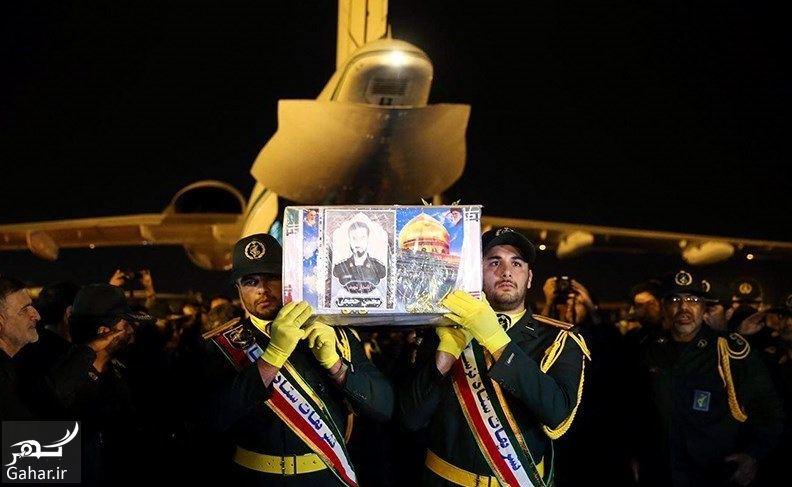 641191 Gahar ir تصاویر / ورود پیکر مطهر شهید حججی به فرودگاه تهران