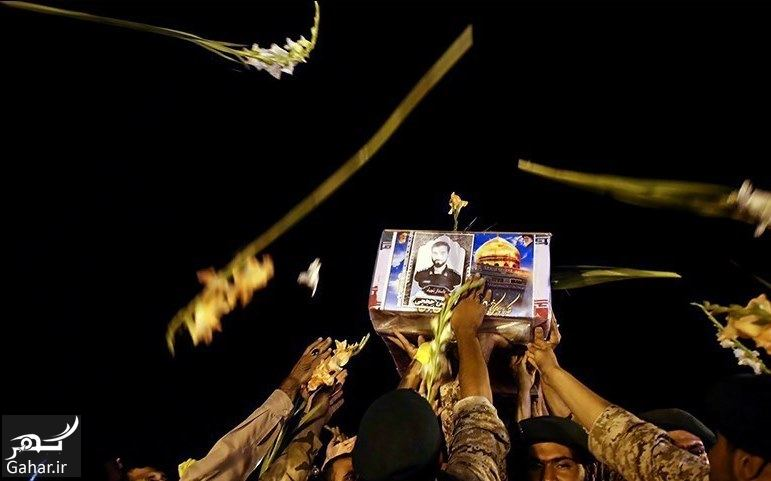 670485 Gahar ir تصاویر / ورود پیکر مطهر شهید حججی به فرودگاه تهران