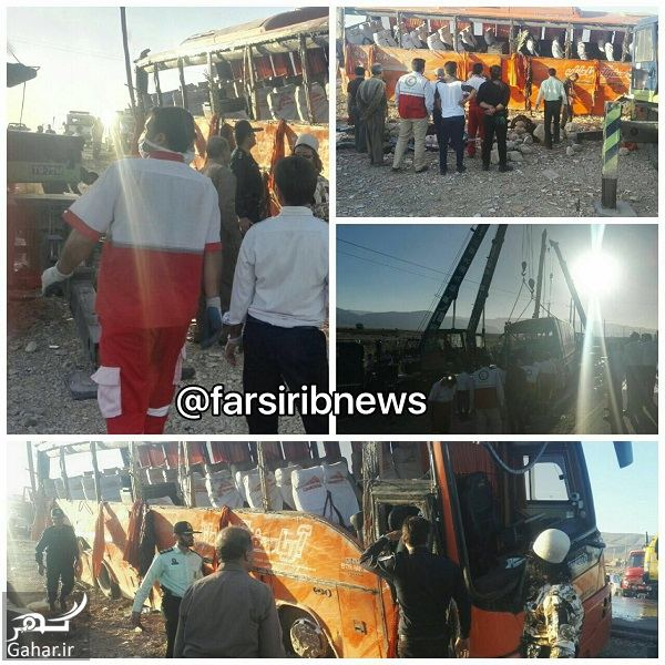 734028 Gahar ir 45 کشته و زخمی در حادثه واژگونی اتوبوس دانش آموزان دختر