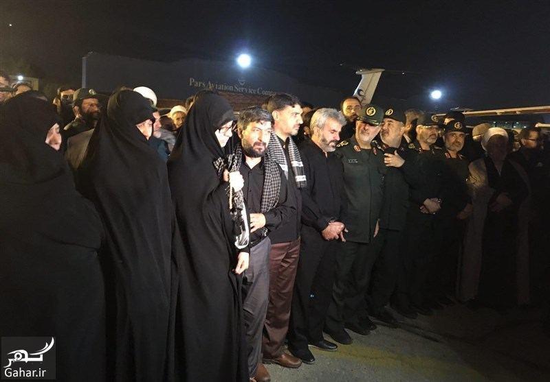 748258 Gahar ir تصاویر / ورود پیکر مطهر شهید حججی به فرودگاه تهران