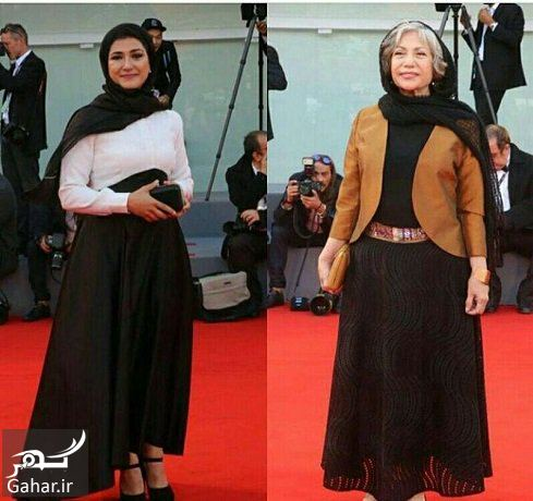 859242 Gahar ir عکس باران کوثری و مادرش رخشان بنی اعتماد در جشنواره ونیز
