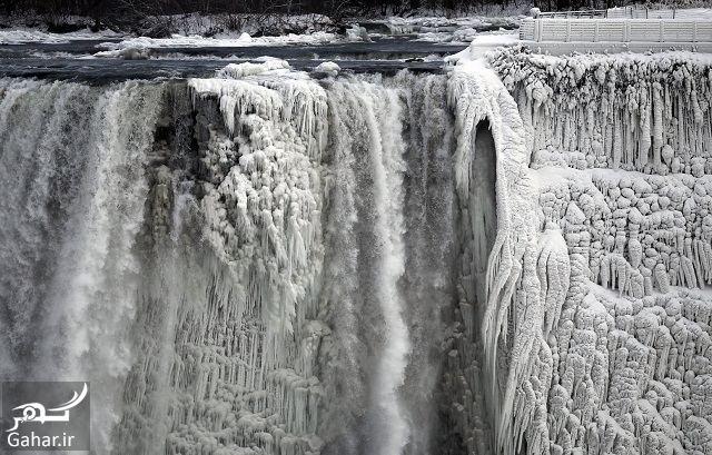 984342 Gahar ir عكس فوق العاده از يخ زدن آبشار نياگارا