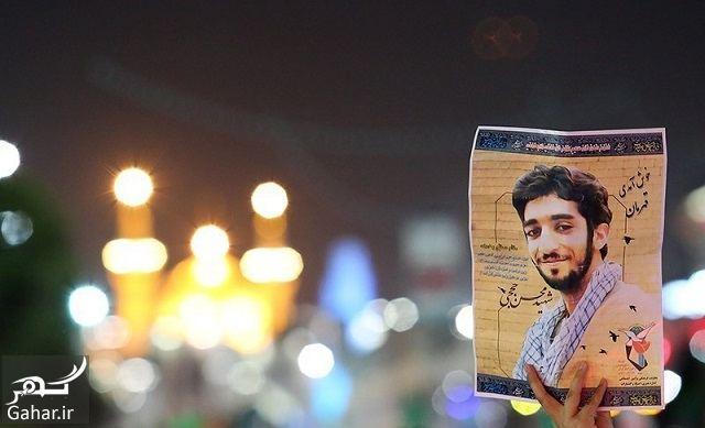 998802 Gahar ir فیلم / وداع با پیکر مطهر شهید حججی در صحن حرم رضوی