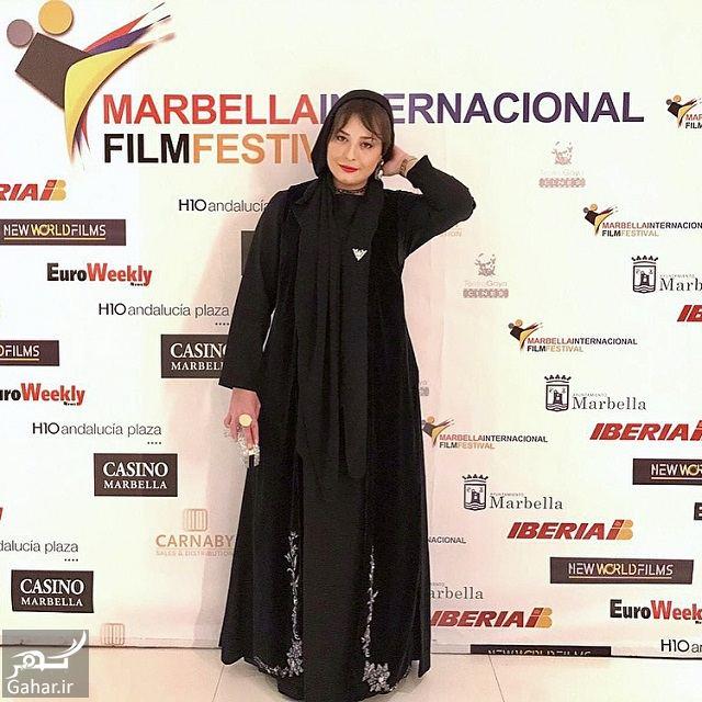 155079 Gahar ir تصاویر / تیپ عجیب و متفاوت مهراوه شریفی نیا در جشنواره فیلم ماربیا اسپانیا