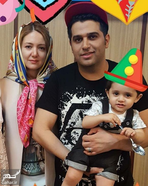 407441 Gahar ir عکس جشن تولد حمید عسکری کنار همسر و فرزندش