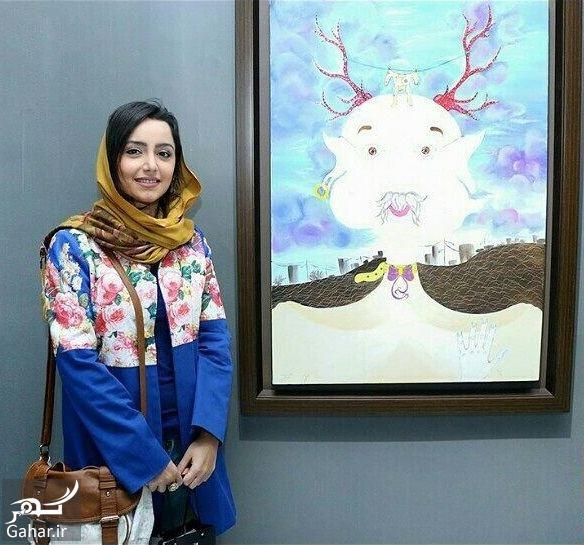 448618 Gahar ir عکس های متفاوت بازیگران در افتتاحیه نمایشگاه نقاشی نازنین بیاتی