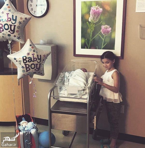 594274 Gahar ir پسر بنیامین بهادری و شایلی در آمریکا به دنیا آمد + عکس پسر بنیامین