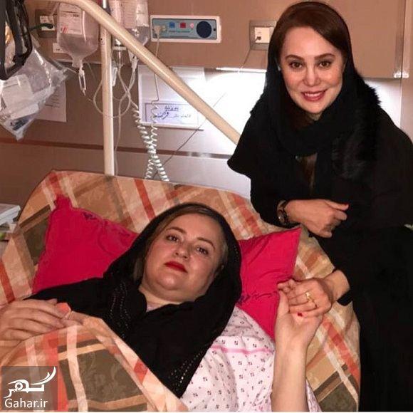 066669 Gahar ir عکسهای ملاقات بازیگران از نعیمه نظام دوست در بیمارستان