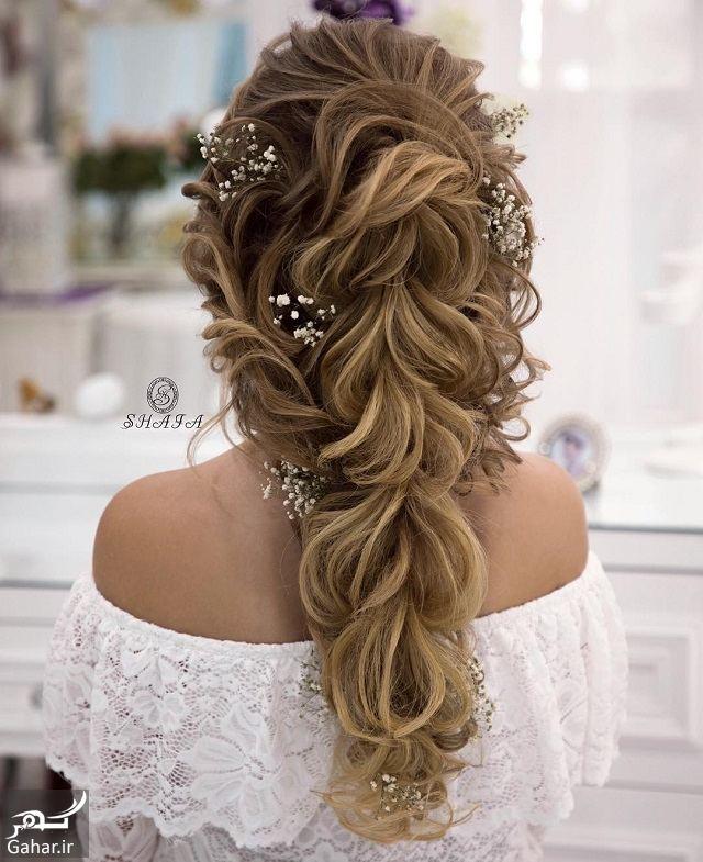145895 Gahar ir جدیدترین مدل های زیبای شینیون موی بلند عروس