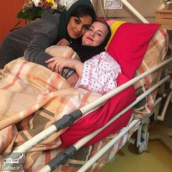 176726 Gahar ir عکسهای ملاقات بازیگران از نعیمه نظام دوست در بیمارستان