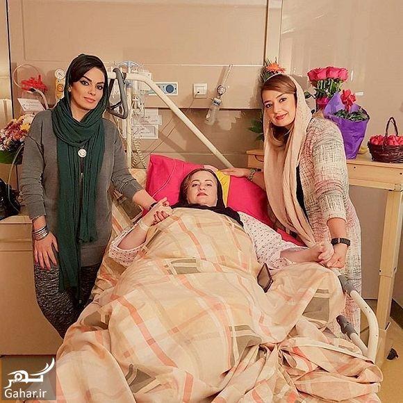 184412 Gahar ir عکسهای ملاقات بازیگران از نعیمه نظام دوست در بیمارستان
