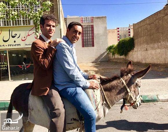 287838 Gahar ir الاغ سواری بازیگر مرد در پشت صحنه فیلم / عکس