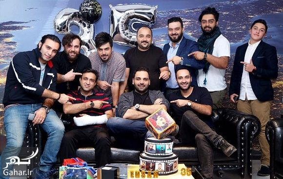 362281 Gahar ir عکس تولد 35 سالگی احسان علیخانی در کنار دوستانش