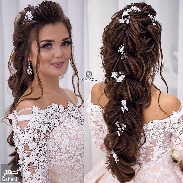 741361 Gahar ir جدیدترین مدل های زیبای شینیون موی بلند عروس