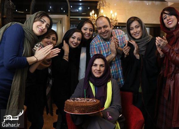 029687 Gahar ir دورهمی بازیگران در مراسم جشن تولد آذر معماریان / تصاویر