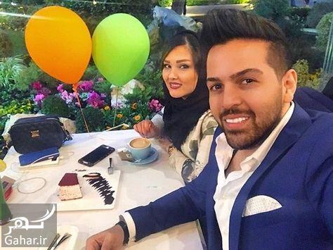 220622 Gahar ir سلفی آقای خواننده با همسرش در کافه روباز / عکس