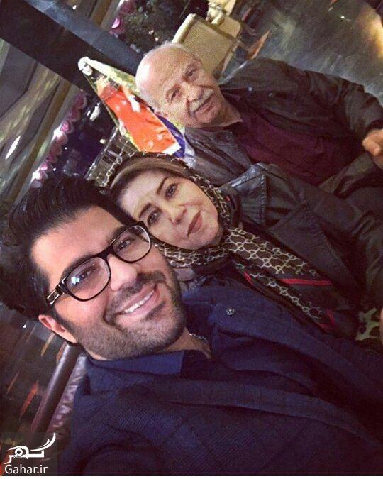 414793 Gahar ir عکس حامد همایون کنار پدر و مادرش