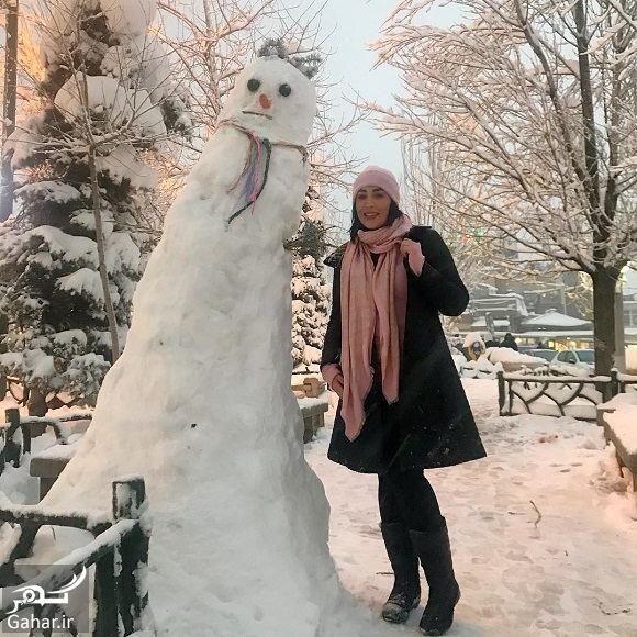 062569 Gahar ir عکسهای بازیگران و هنرمندان در روز برفی تهران