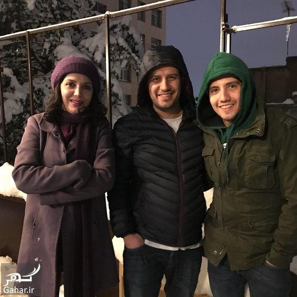 251742 Gahar ir عکسهای بازیگران و هنرمندان در روز برفی تهران