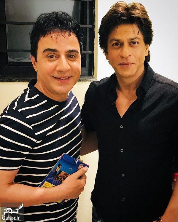 293575 Gahar ir دیدار صمیمانه عمو پورنگ با شاهرخ خان در هند / 2 عکس