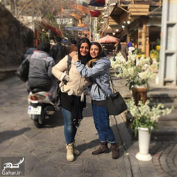 385842 Gahar ir عکس دو بازیگر خانم با تیپ عجیب در خیابانهای تهران!