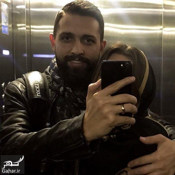 386268 Gahar ir عکس سلفی محسن افشانی و همسرش در آسانسور