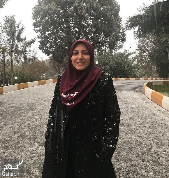 394091 Gahar ir عکس زمستانی خانم مجری زیر برف