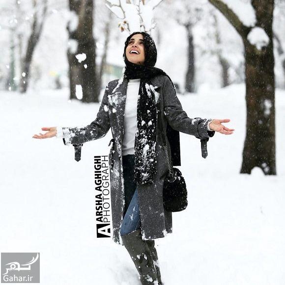 424153 Gahar ir عکسهای بازیگران و هنرمندان در روز برفی تهران