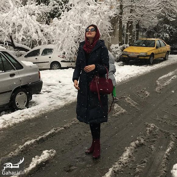 557400 Gahar ir عکسهای بازیگران و هنرمندان در روز برفی تهران