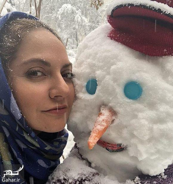 574382 Gahar ir عکسهای بازیگران و هنرمندان در روز برفی تهران