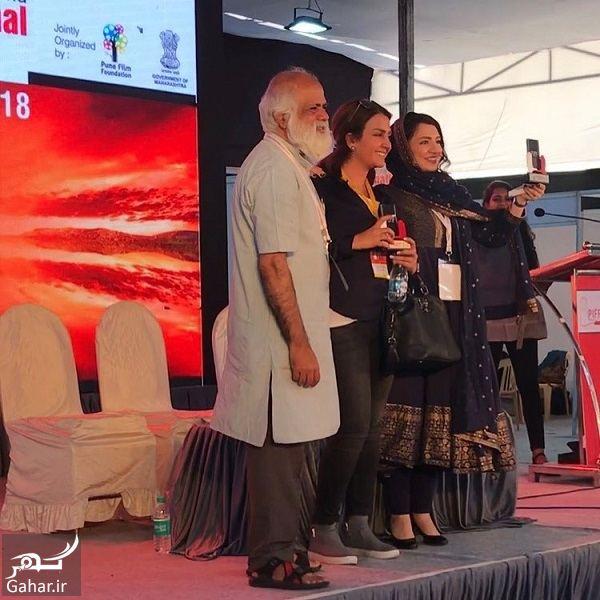 610025 Gahar ir استایل گلاره عباسی در افتتاحیه فستیوال هند / 3 عکس
